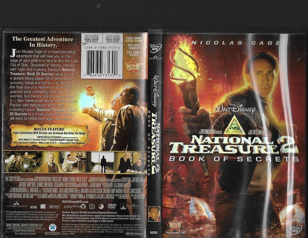 National Treasure 2 Book Of Secrets Dvd The Secret Book
