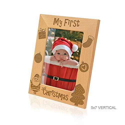 Kate Posh My First Christmas Picture Frame 5x7 Vertical This Is An