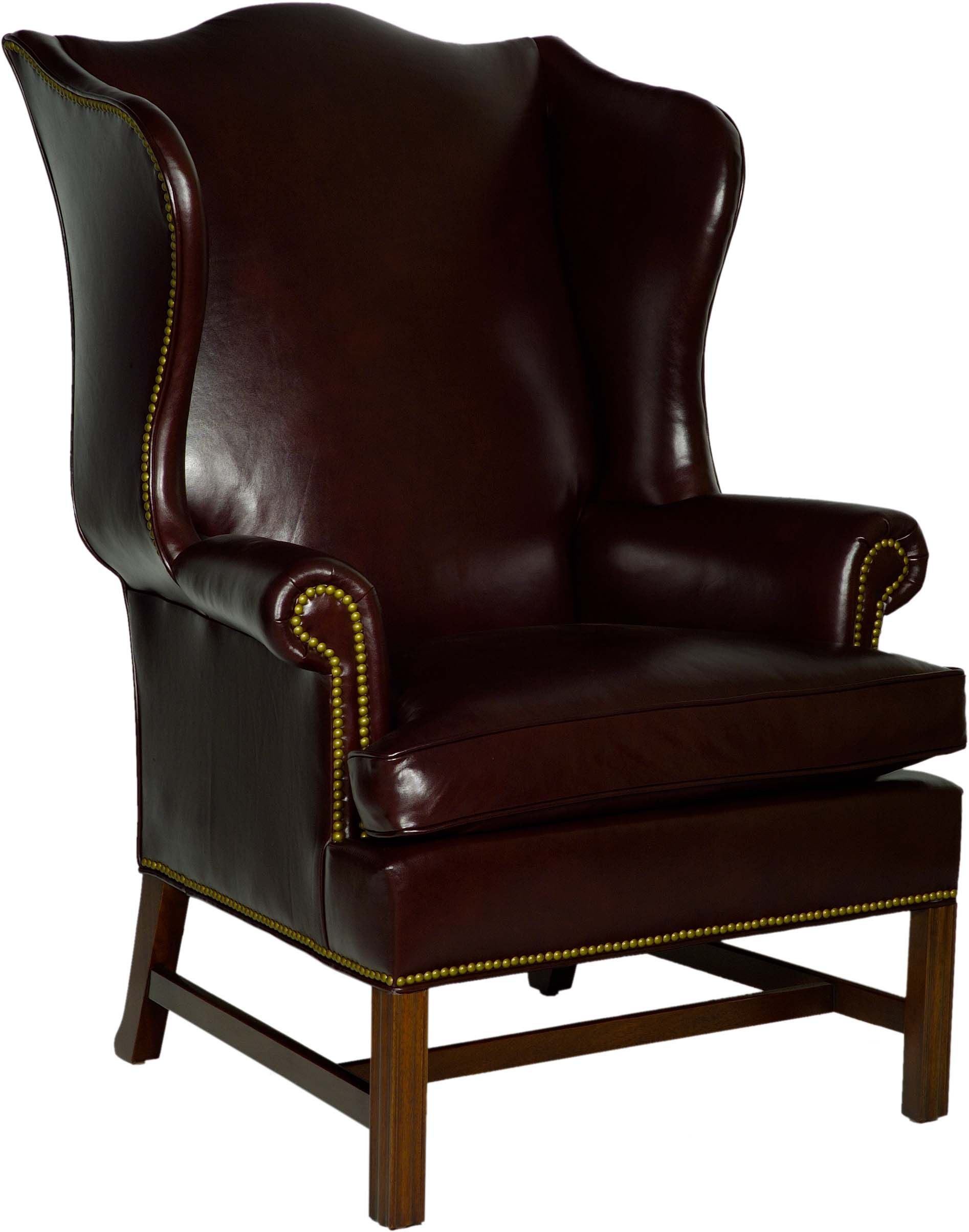 Queen Anne Wingback Chair Leather Behind The High Back Wing Armchairs And