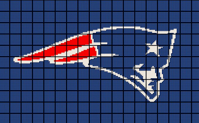 New England Patriots Crochet Blanket Pattern Afghan Graphghan Nfl