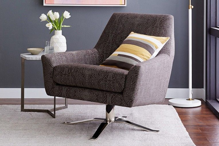 Merveilleux A Swivel Base In Polished Nickel Makes This Chair An Easy Fit In Lounges,  Private Offices Or Common Spaces.