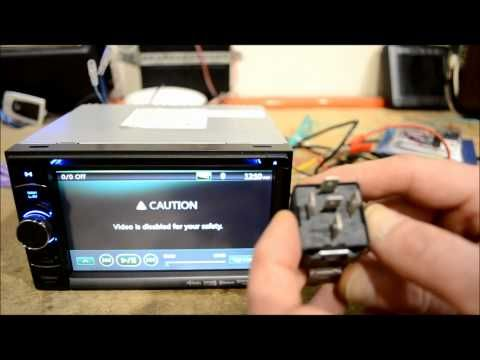 How to do an In Dash DVD GPS stereo Parking Brake Bypass