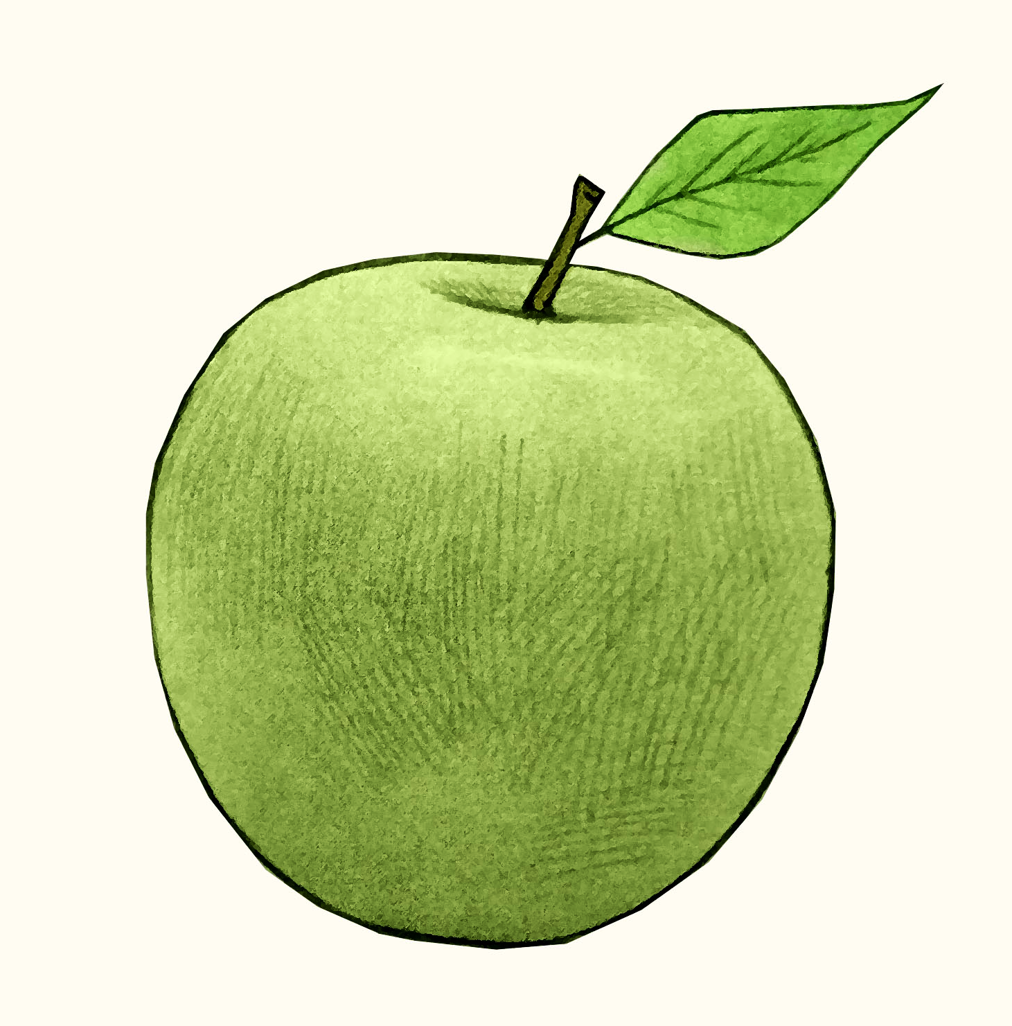 Green granny smith apple #apples
