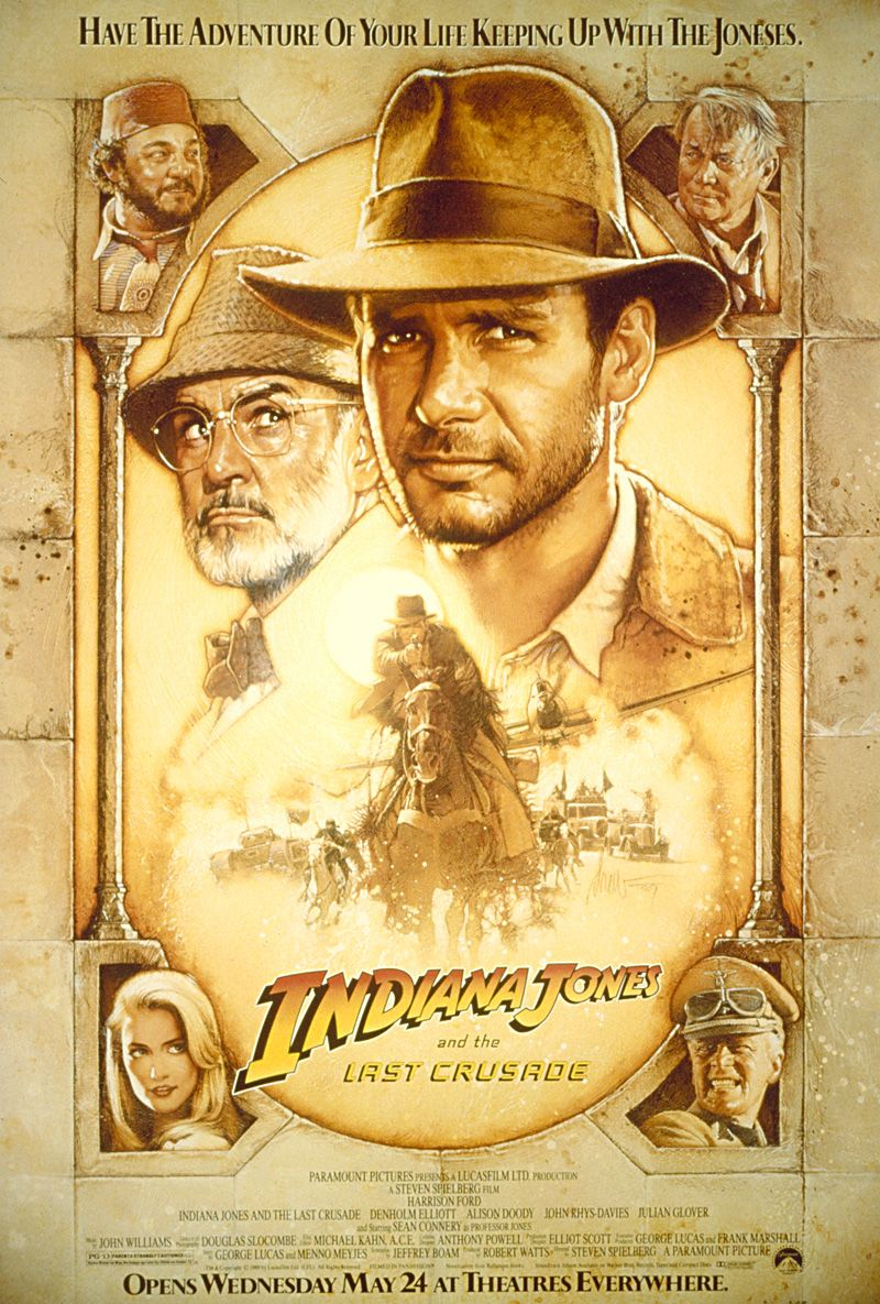 Indiana Jones The Last Crusade Indiana Jones Movie Posters Film Movie