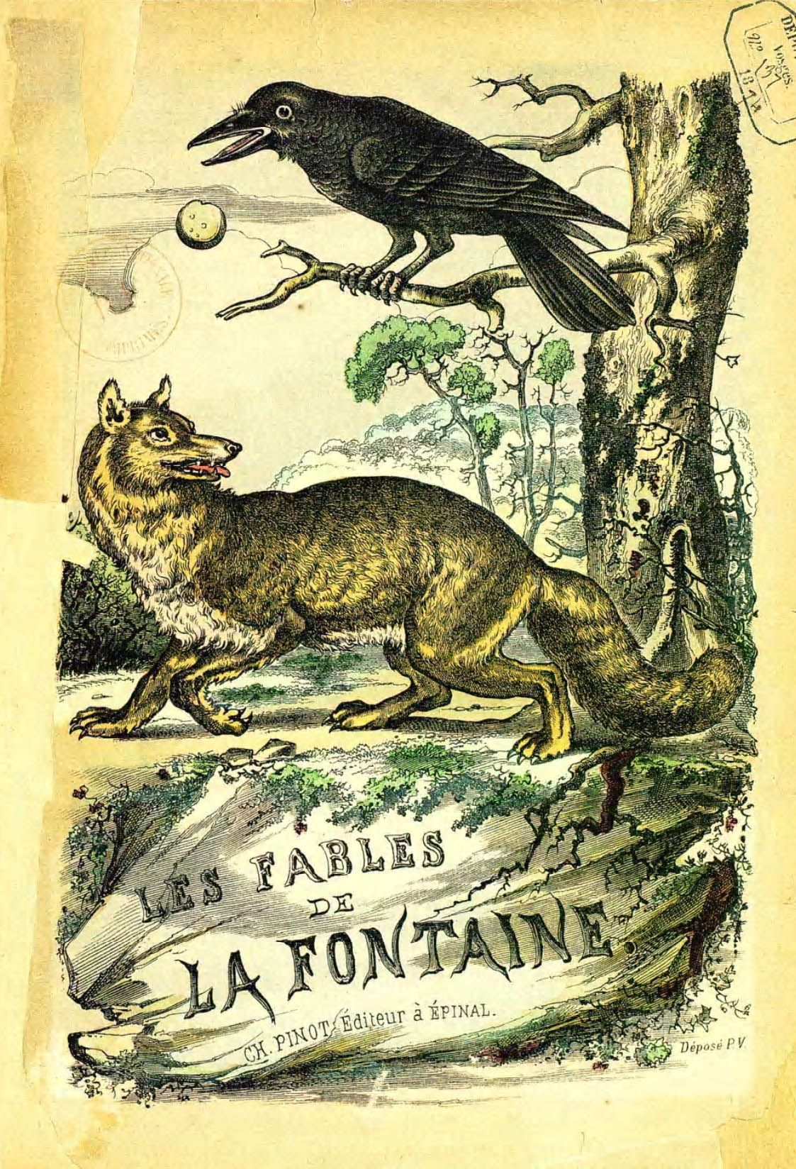 Illustrations couleur 'Fables de la Fontaine' par Vimar ...
