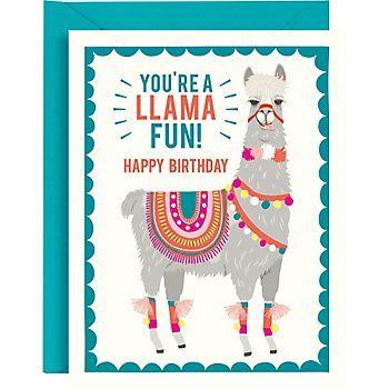 Llama Fun Birthday Card Llama Cards Pinterest Birthday