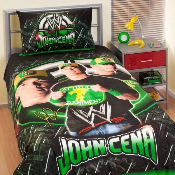 WWE John Cena Single Bed Quilt Cover Set main product photo. WWE John Cena Single Bed Quilt Cover Set main product photo   It s