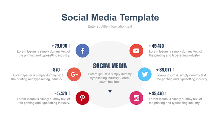 Social Media Ppt Template Free Download Now Social Media Template Information Visualization Keynote Template