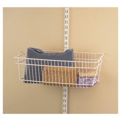 Closetmaid Shelf Track Basket White Large Large Baskets Closetmaid Cheap Closet