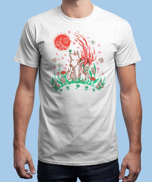 """""""Wolf Blossom Breeze"""" is today's £9/€11/$12 tee for 24 hours only on Pin this…   Qwertee thumbnail"""