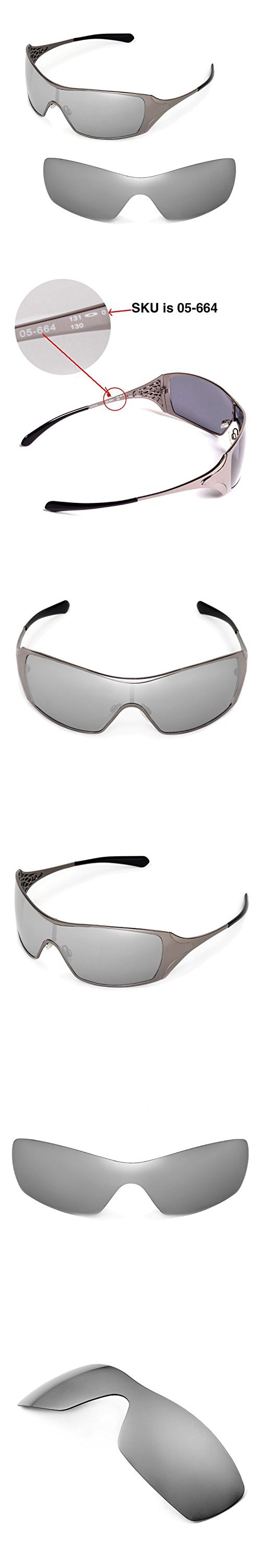 be07164192 Walleva Replacement Lenses for Oakley Dart Sunglasses - Multiple Options  Available (Titanium Mirror Coated -