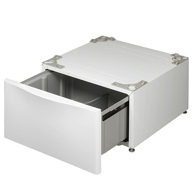 Lg Wdp4w 13 6 Laundry Pedestal With Storage Drawer Laundry Pedestal Lg Washer And Dryer Storage Drawers