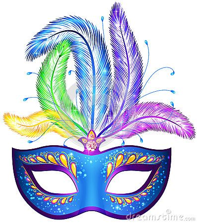 Vector Venitian Carnival Mask With Feathers By 1enchik Via