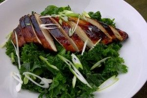 Teriyaki Chicken with Spring Onions and Kale