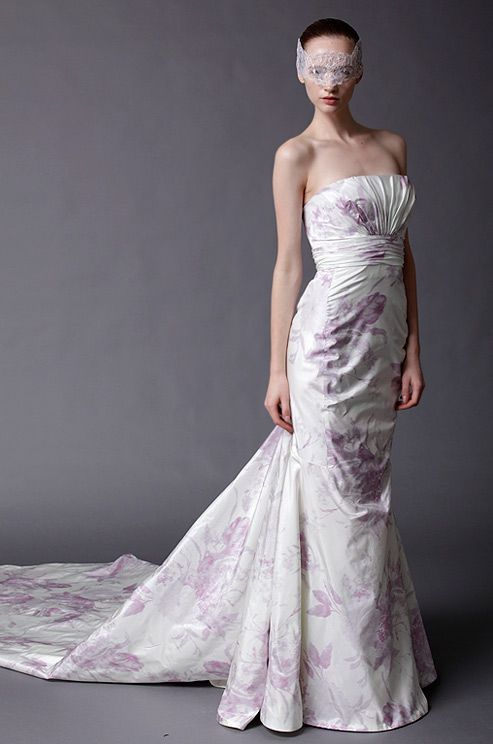 Douglas Hannant flower printed #wedding dress, Spring 2013.
