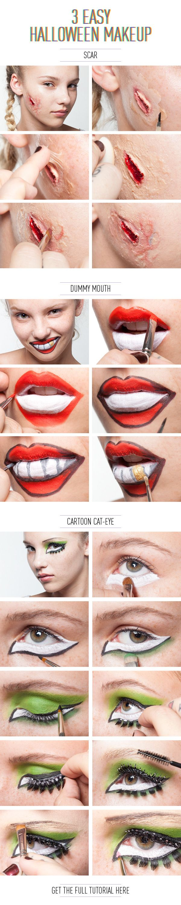 3 Easy Halloween Makeup Effects  Holiday  Event Ideas -1222