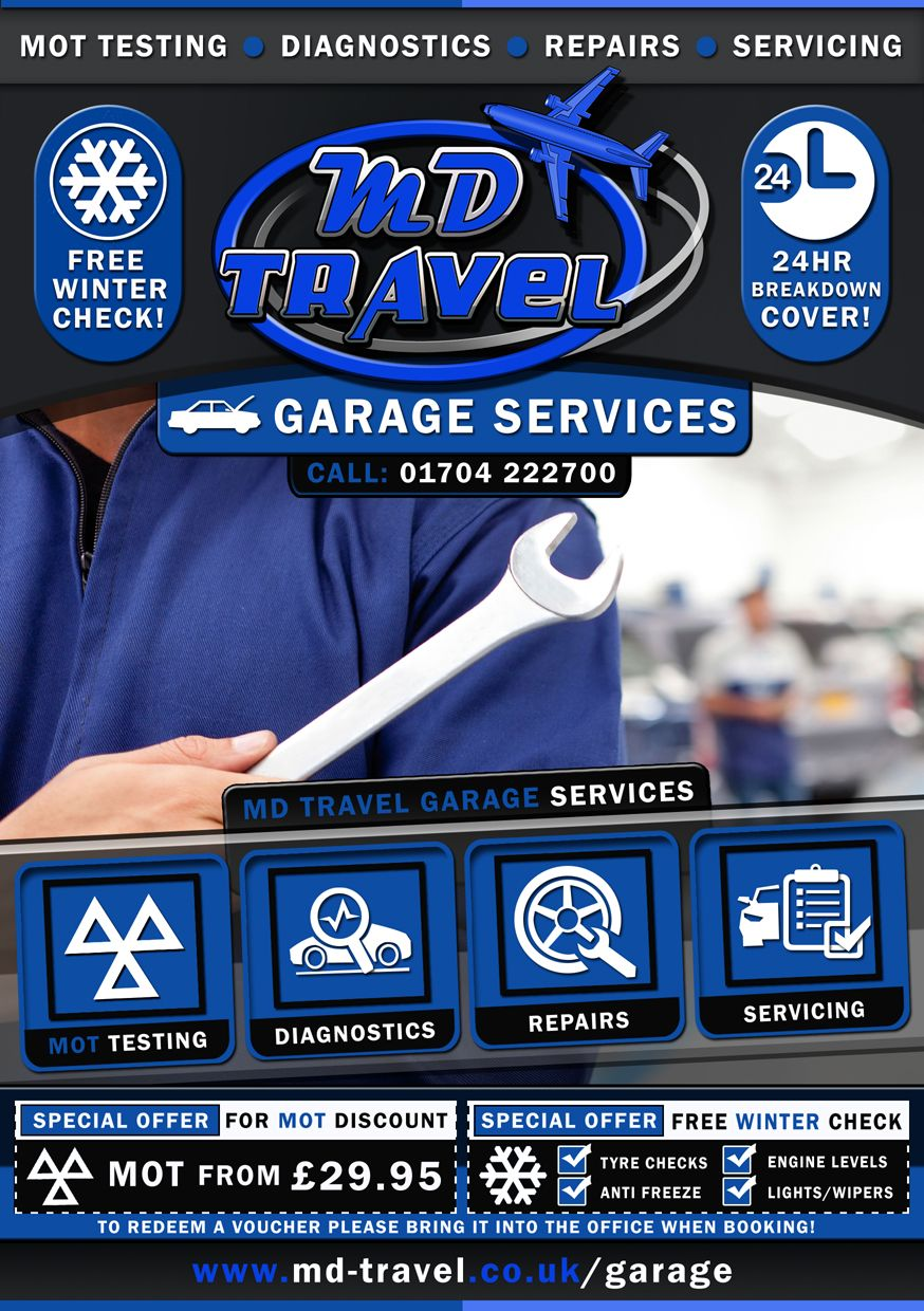 Md Travel Southport New Garage Services