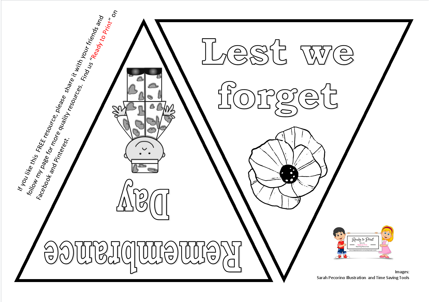Free Resource Remembrance Day Bunting Free