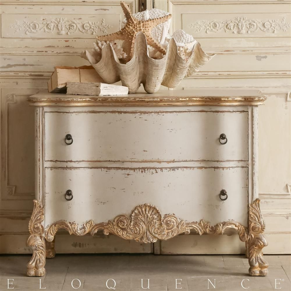 Eloquence Roma Gold Taupe Two Tone Commode