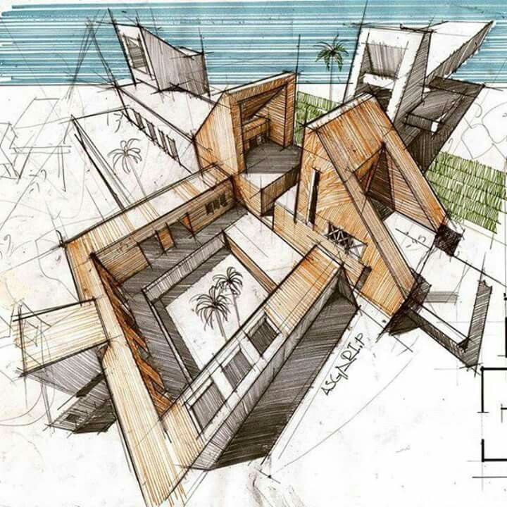 """from """"festim toshi - architectural sketches""""   sketch   pinterest"""