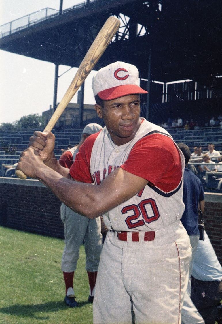 On April 28 1956 Red S Rookie Frank Robinson Hit The First Of His 586 Home Runs Against The Cubs Cincinnati Reds Baseball Cincinnati Reds Reds Baseball