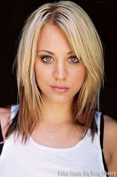 Kaley Cuoco Want This Hair Style Frisur Dicke Haare