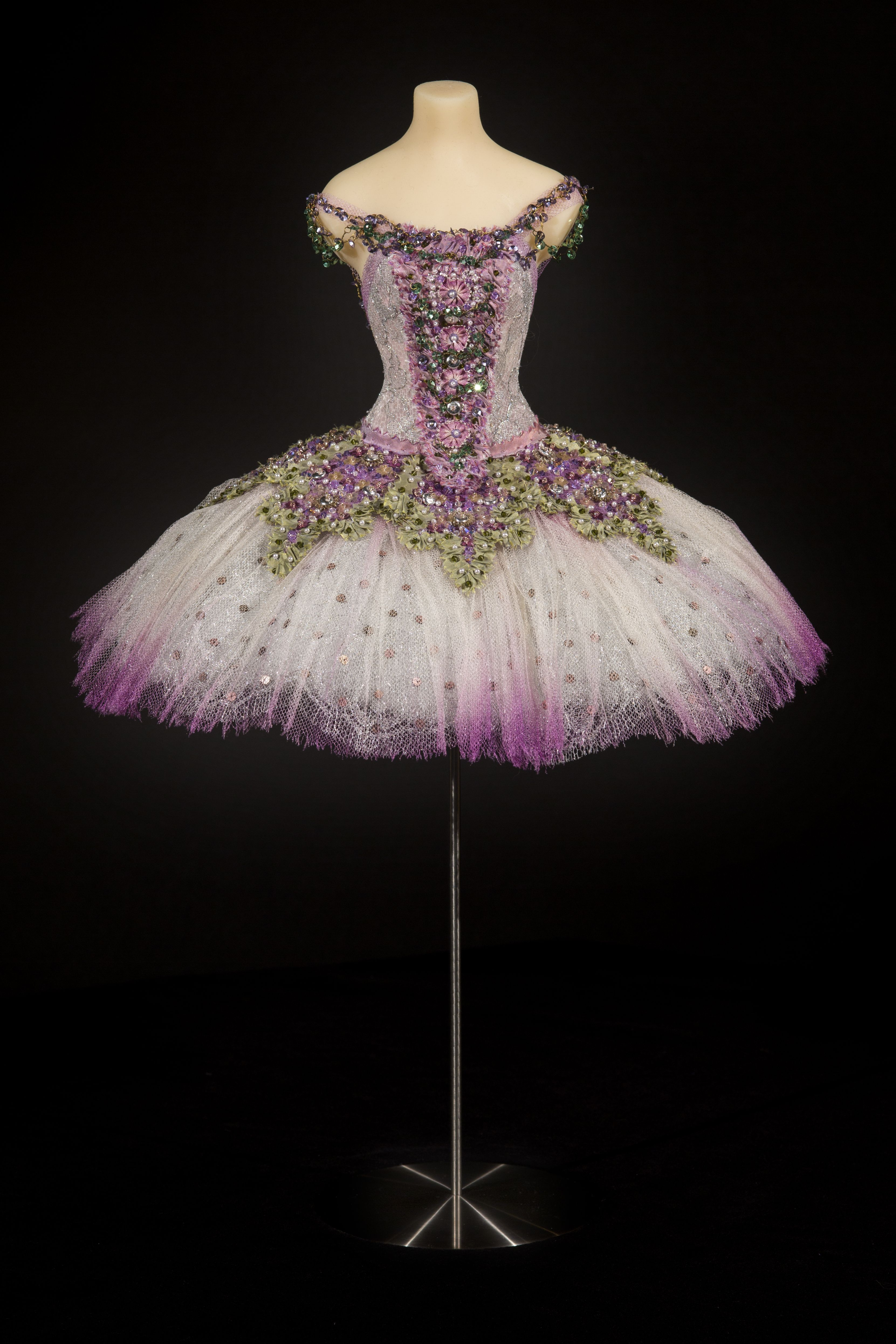 6c07ee72096d Our 'Lilac Fairy' miniature ballet costume. A highly decorative and  glamorous tutu, with appliqued skirt and bodice panels edged in shot silk  taffeta, ...
