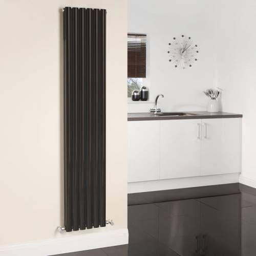 Hudson Reed Radiateur Design Vertical Noir Vitality 178cm x 35,4cm x