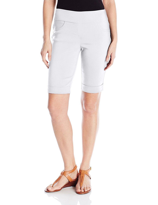 2f38e00b616f Women's Petite Size Pull-On Solar Millennium Tech Cuffed Short - White -  C812NYL4F8R,Women's Clothing, Shorts #women #clothing #fashion #style #sexy  ...