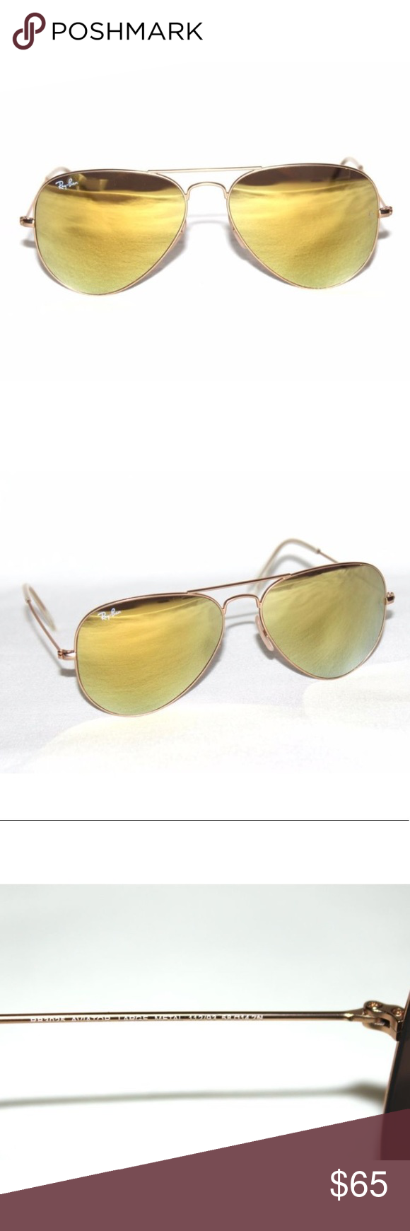 c303b1fc36 Authentic Ray-Ban RB3025 112 93 Gold Flash Authentic - New Ray-Ban RB3025  112 93 Gold   Gold Flash Mirror Aviator Sunglasses 58mm 3025.