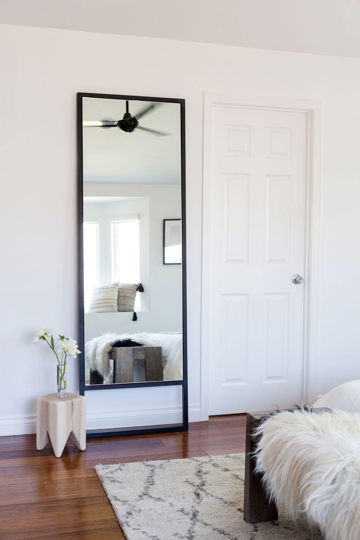 Master Bedroom For Www Eatsleepwear Com Room Board Leaning Metal Mirror Modern Neutral Bedroom Mirror Mirrored Bedroom Furniture Mirror Dining Room