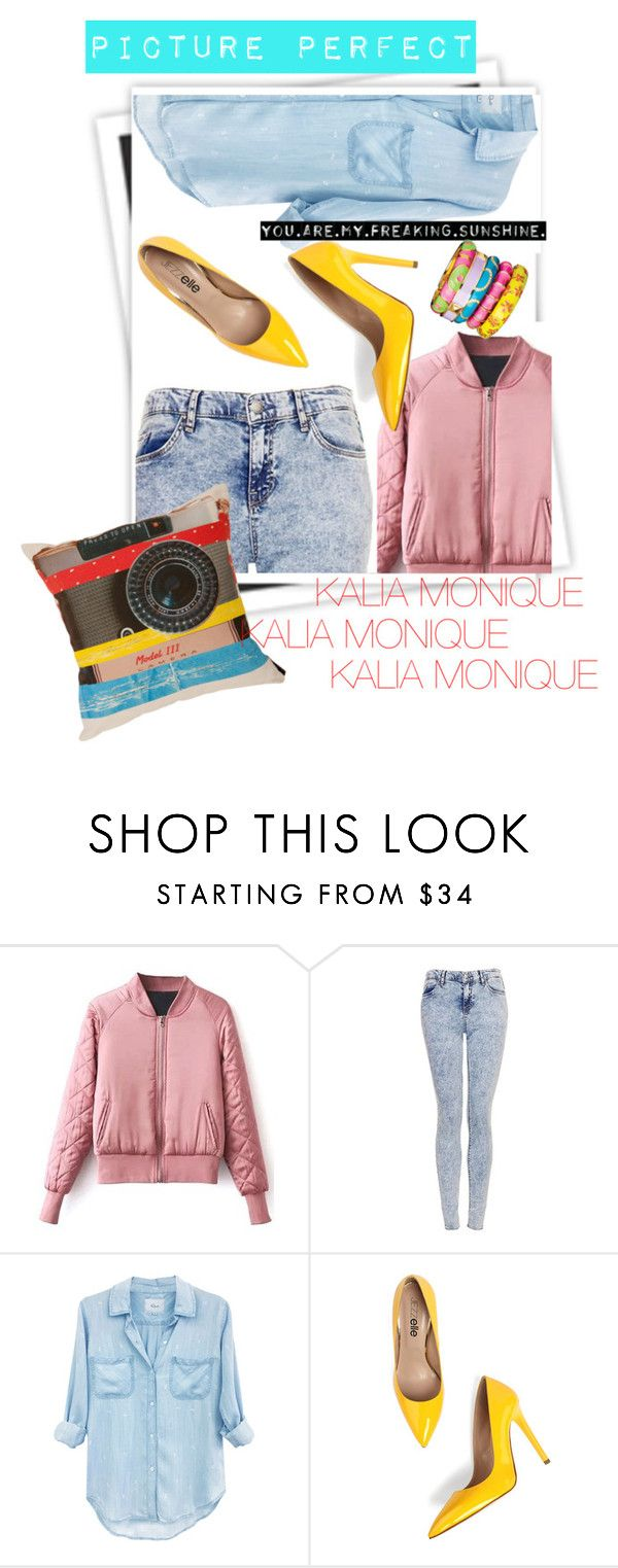 """""""CLOSE UP"""" by the-unique-kalia-monique ❤ liked on Polyvore featuring GALA, Topshop, Rails and Ella Doran"""