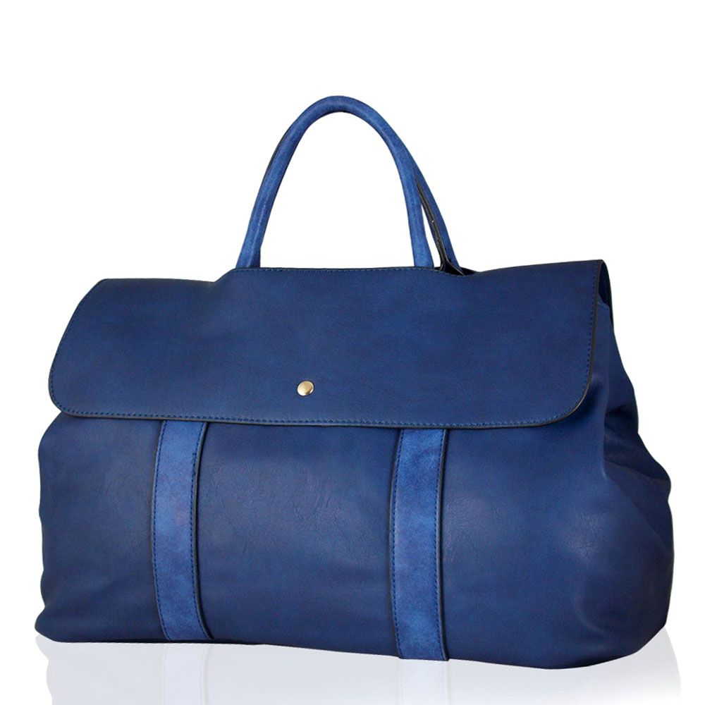 Blue Overnight HandbagHandbags | Get the latest trending ...