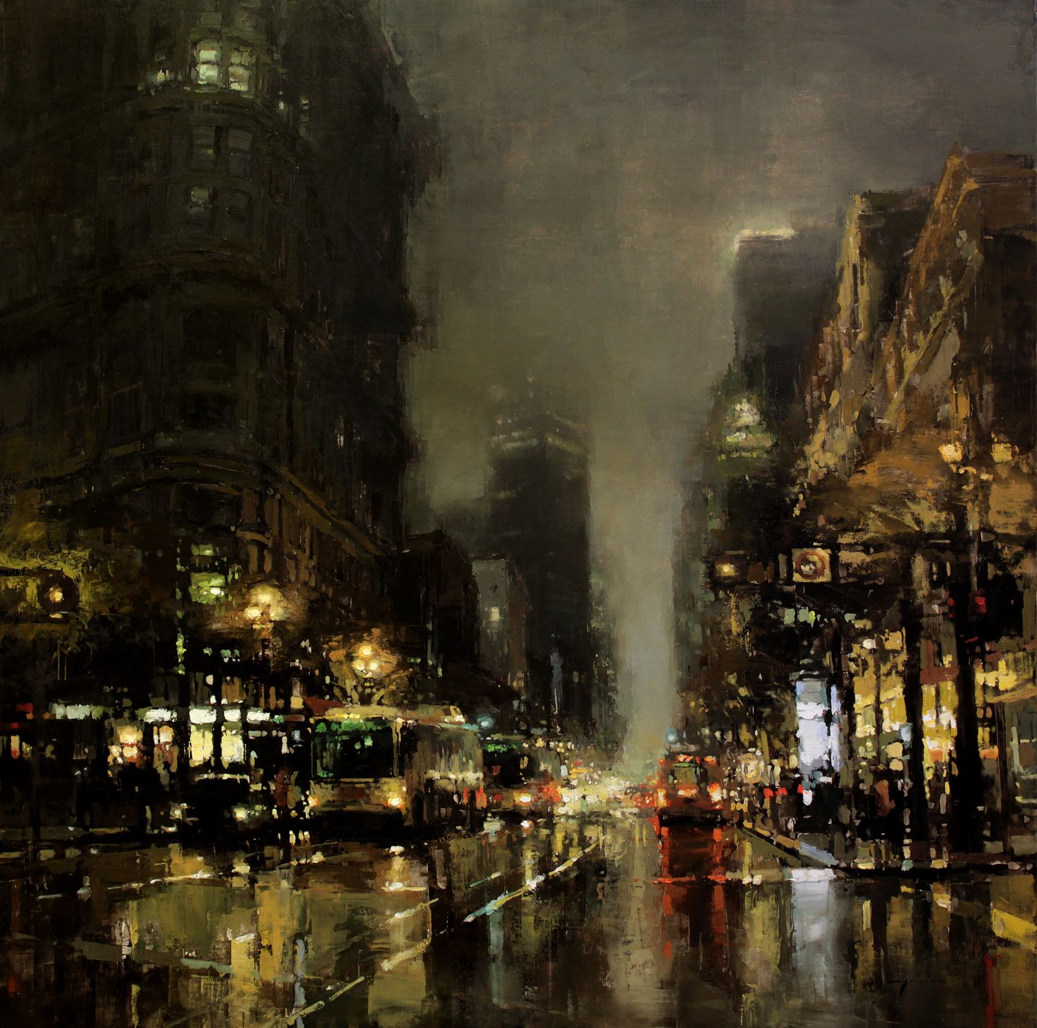 The Beautiful City Paintings Of Jeremy Mann City Painting Cityscape Painting Fine Art
