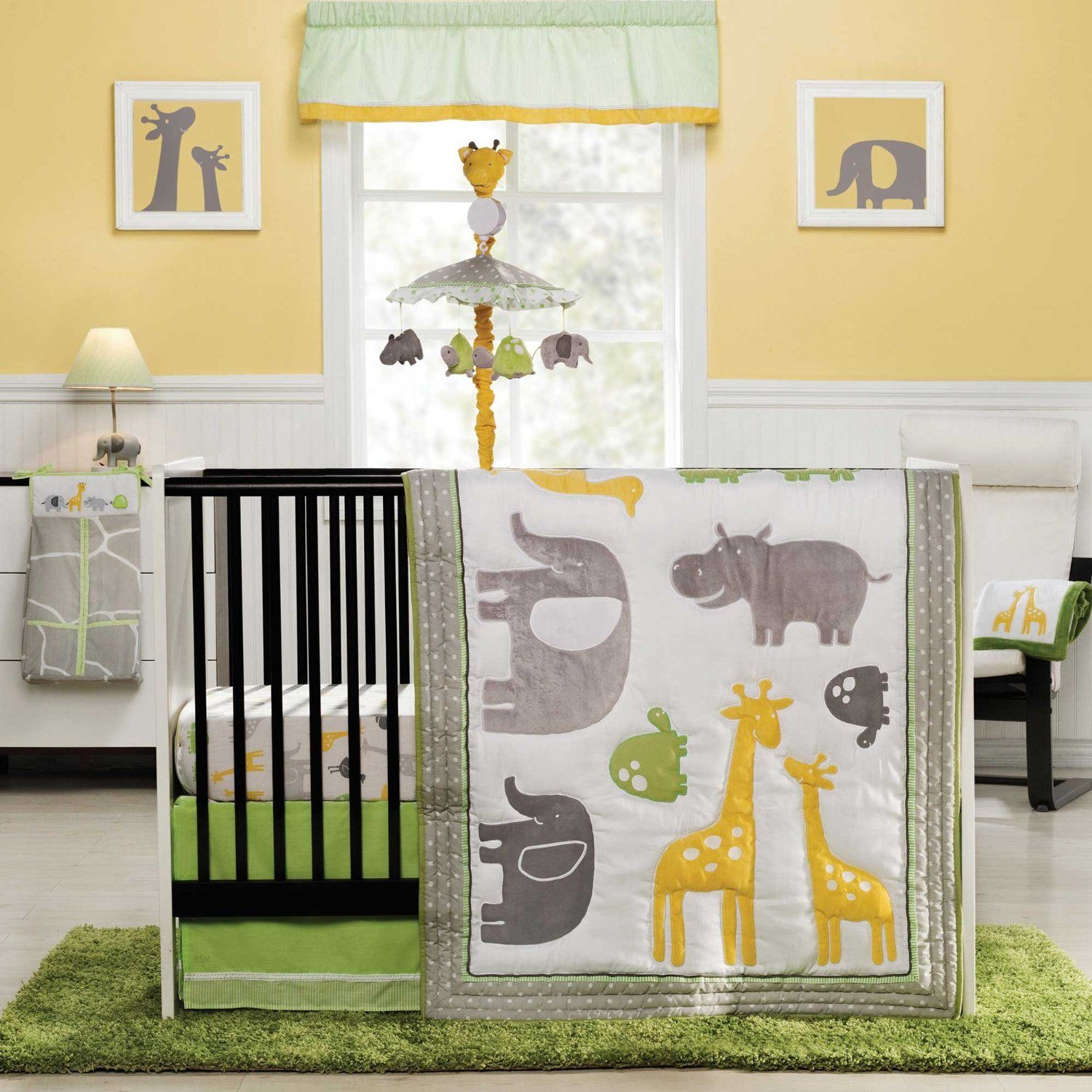 Amazon.com : Zoo Animals 4 Piece Baby Crib Bedding Set by Carters ...