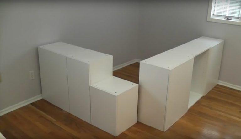 Etape Par Etape Construisez Ce Super Lit Plate Forme Avec Rangements Lit Plat Construire Un Lit Lit Enfant Rangement