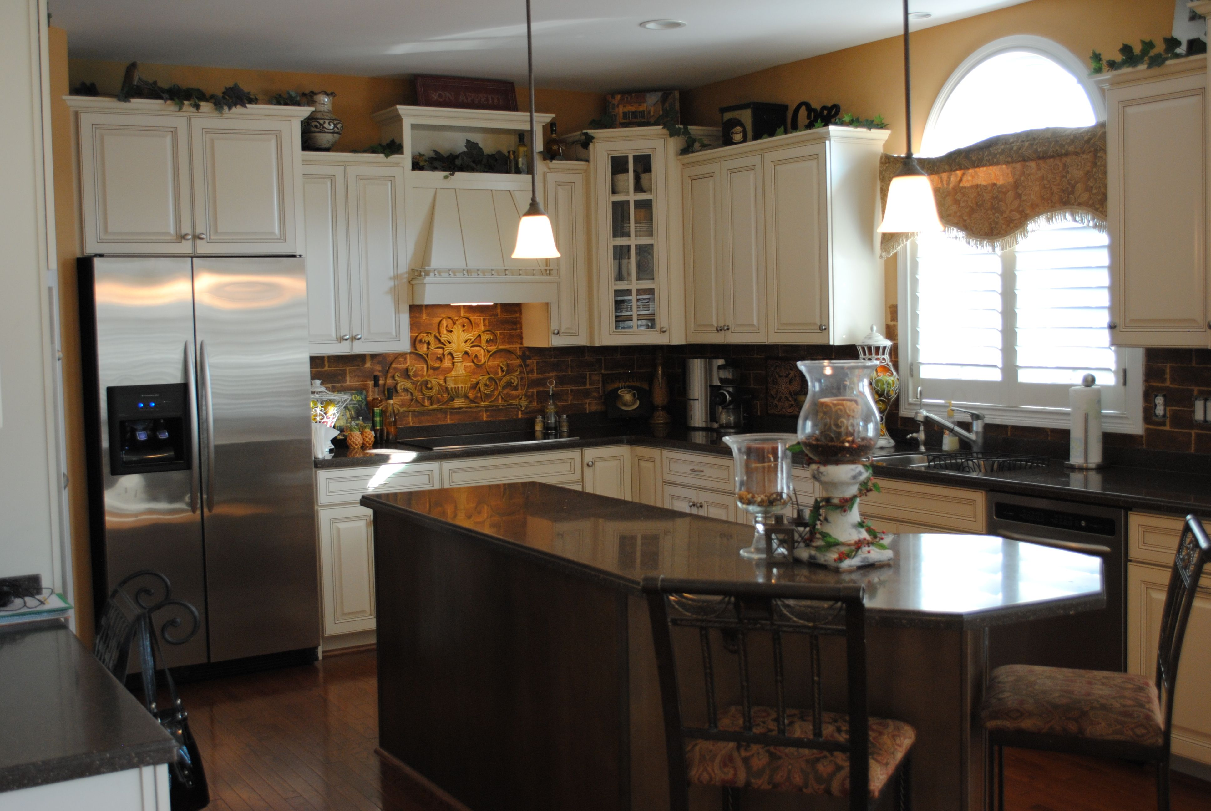faux brick backsplash kitchens pinterest