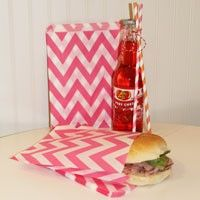 Sandwich / Favor Bags Chevron Stripe Pink