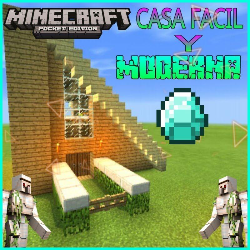Minecraft pe casa 100 facil de hacer y moderna para tu for Casa moderna survival minecraft
