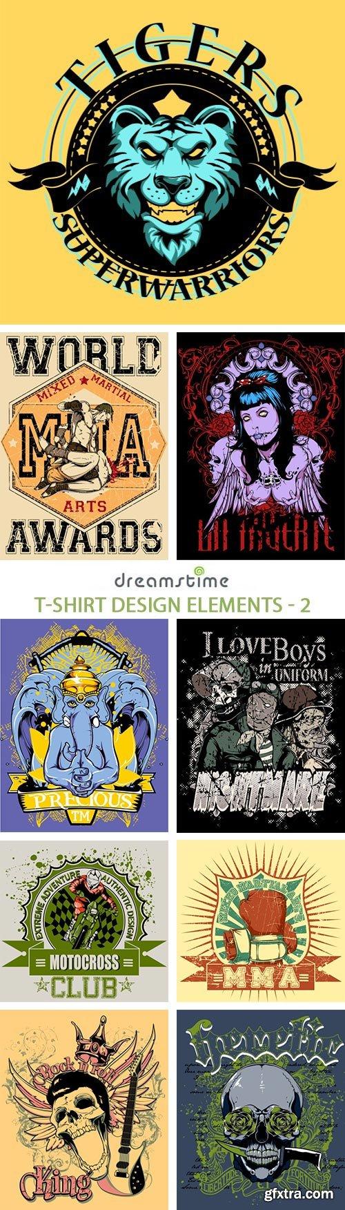 Shirt design elements - T Shirt Design Elements 2 25xeps