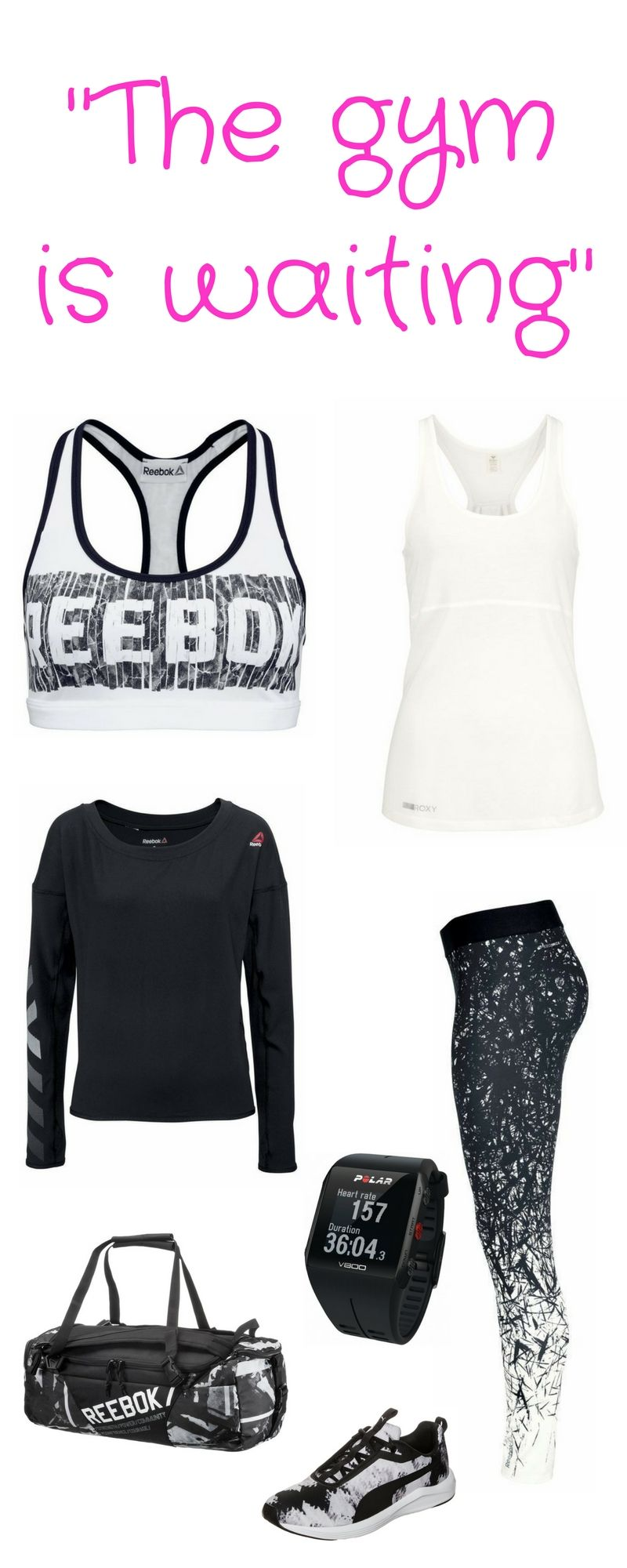 Fitness-Outfit - The gym is waiting ++ mit Multisportuhr ...