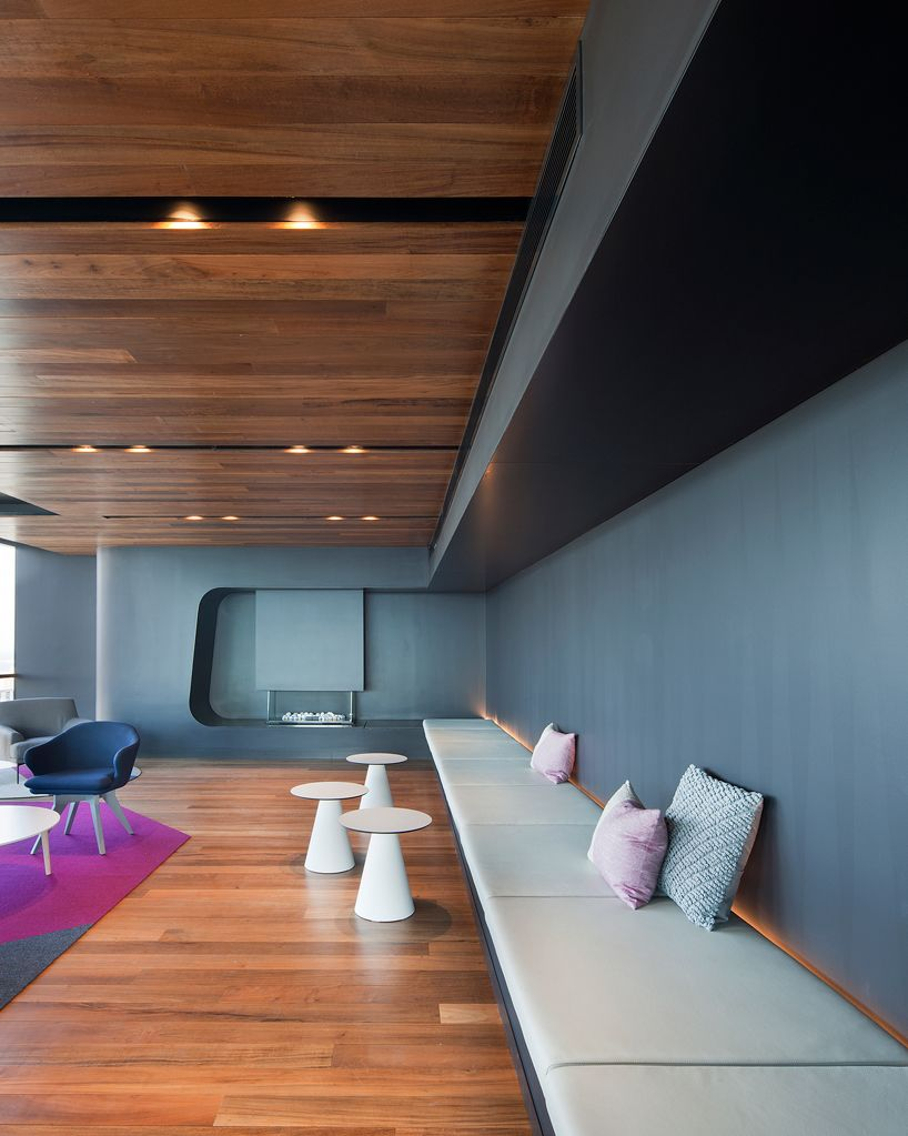 Hayball Adds Mixed Use My80 Residential Tower To Melbourne S Cbd Interior Design Work Hotel Foyer Office Interior Design