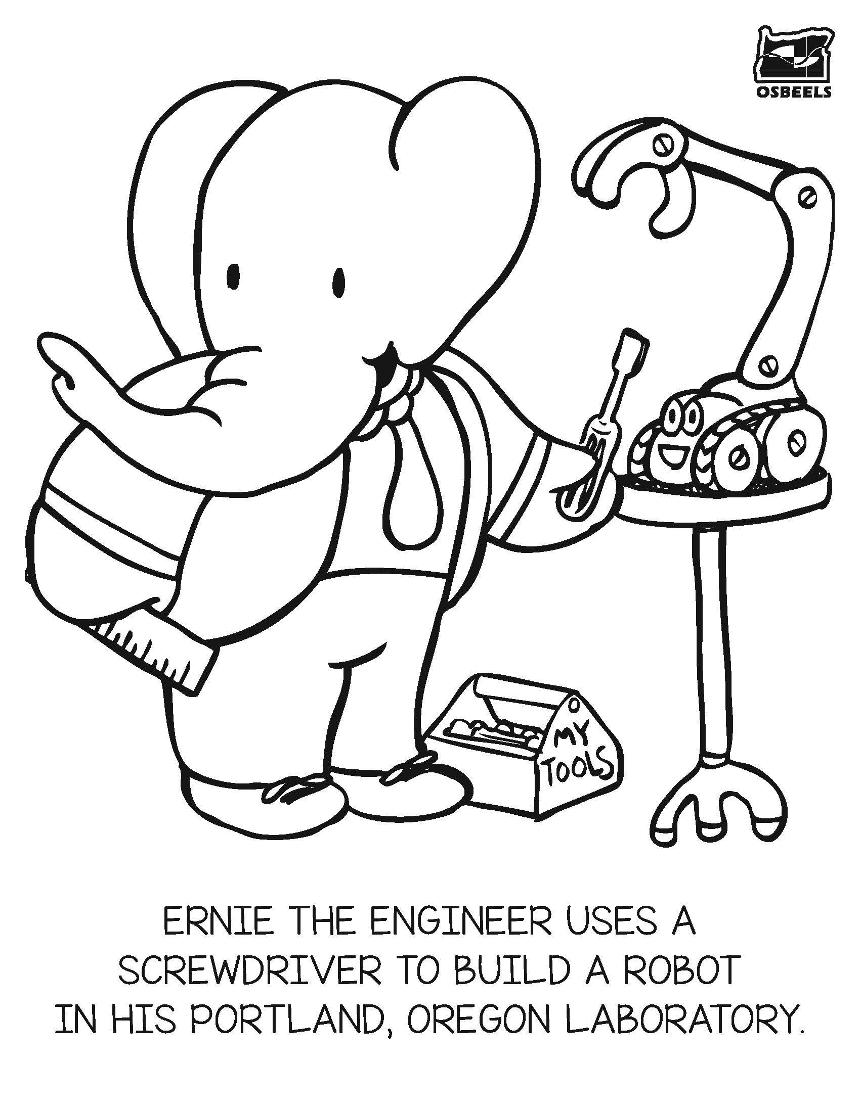 STEM coloring pages, by the Oregon State Board of