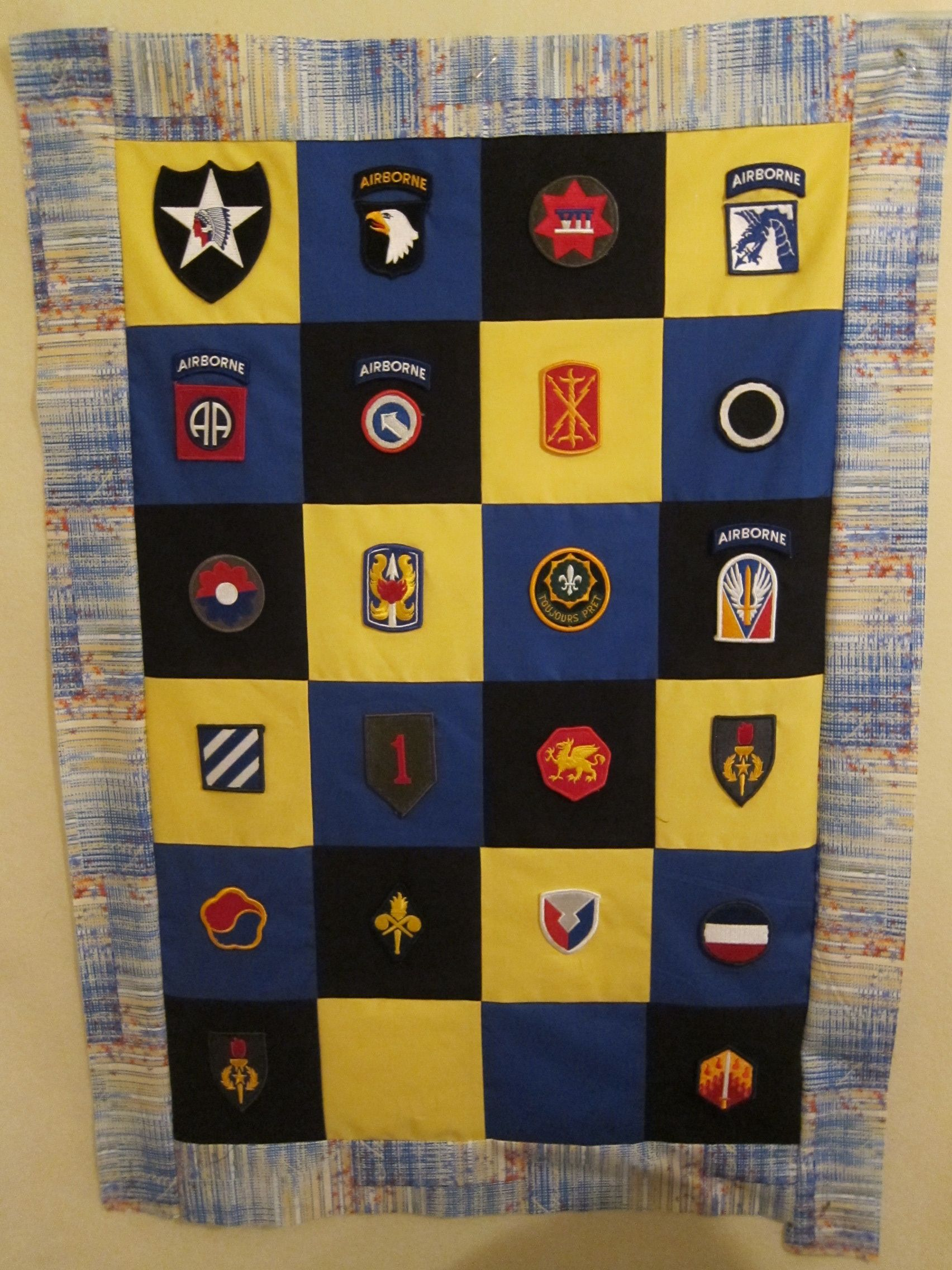 Really like this use of patches #military quilt | Patriotic - Just ... : military quilts - Adamdwight.com
