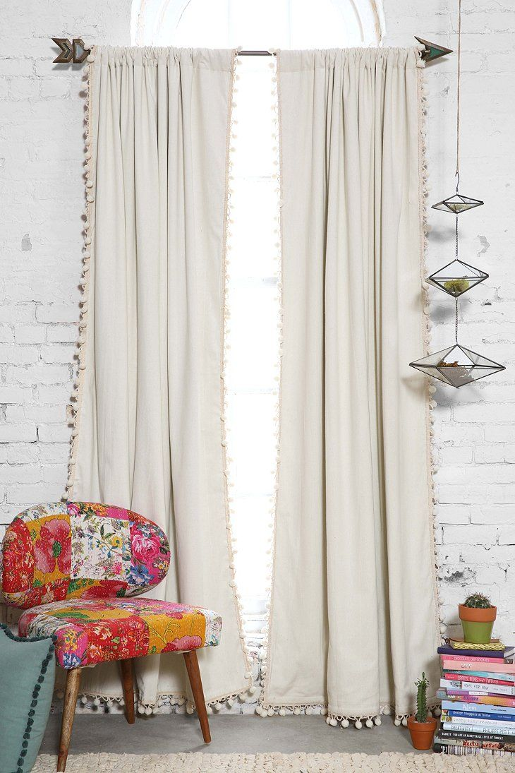 Blackout Pompom Curtain Witches Urban Outfitters And Stitch