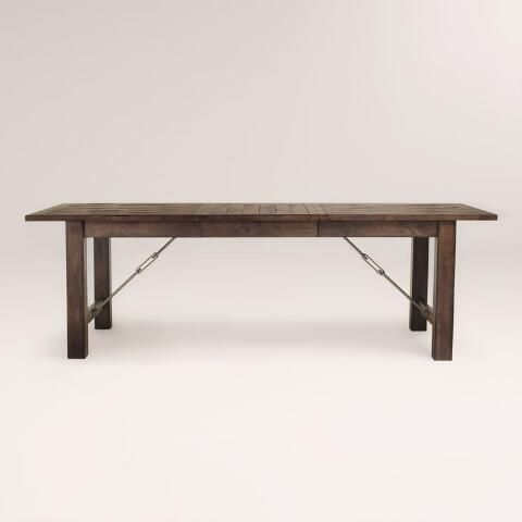 Wood Garner Extension Dining Table Wood Dining Table Rustic Dining Table Rustic Rustic Wood Dining Room Tables