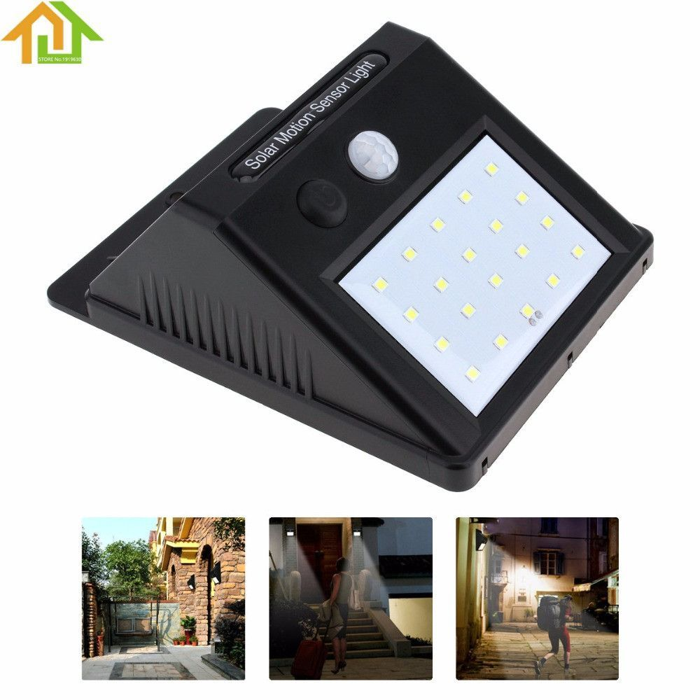 Outdoor 20 LED Solar Power PIR Motion Sensor Wall Light Waterproof Garden  Lamp