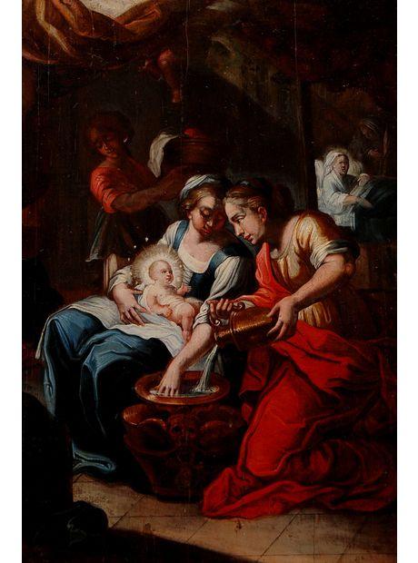 """""""THE NATIVITY OF VIRGIN MARY"""", 17TH CENTURY SPANISH"""