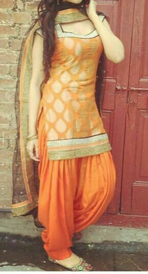 e2aba72778 Orange patiala | Patiala suits | Punjabi salwar suits, Punjabi dress ...