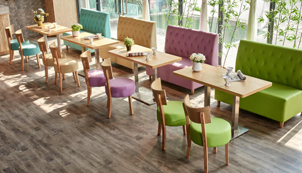 Candy Color Macaroon Color Restaurant Dining Set Restaurant Tables And Chairs Solid Wood Dining Chairs Dining Chairs For Sale